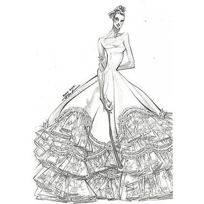 Фото эскизов свадебных платьев 3