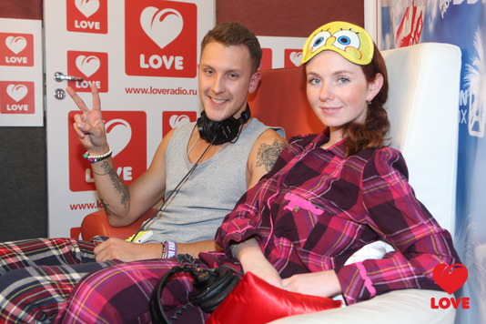 Пижамная Вечеринка Love Radio. T-killah и Лена Катина