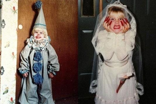 Пинк поделилась своими детскими снимками на Хэллоуин
