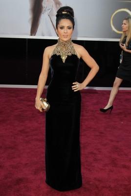 Худшие наряды Оскара 2013. Сальма Хайек